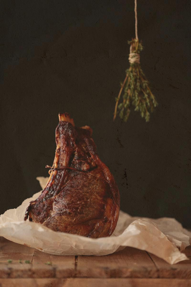 twine and prime roasted meat