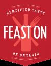 certified taste Feast On of Ontario badge