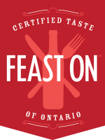 certified taste Feast On of Ontario badge