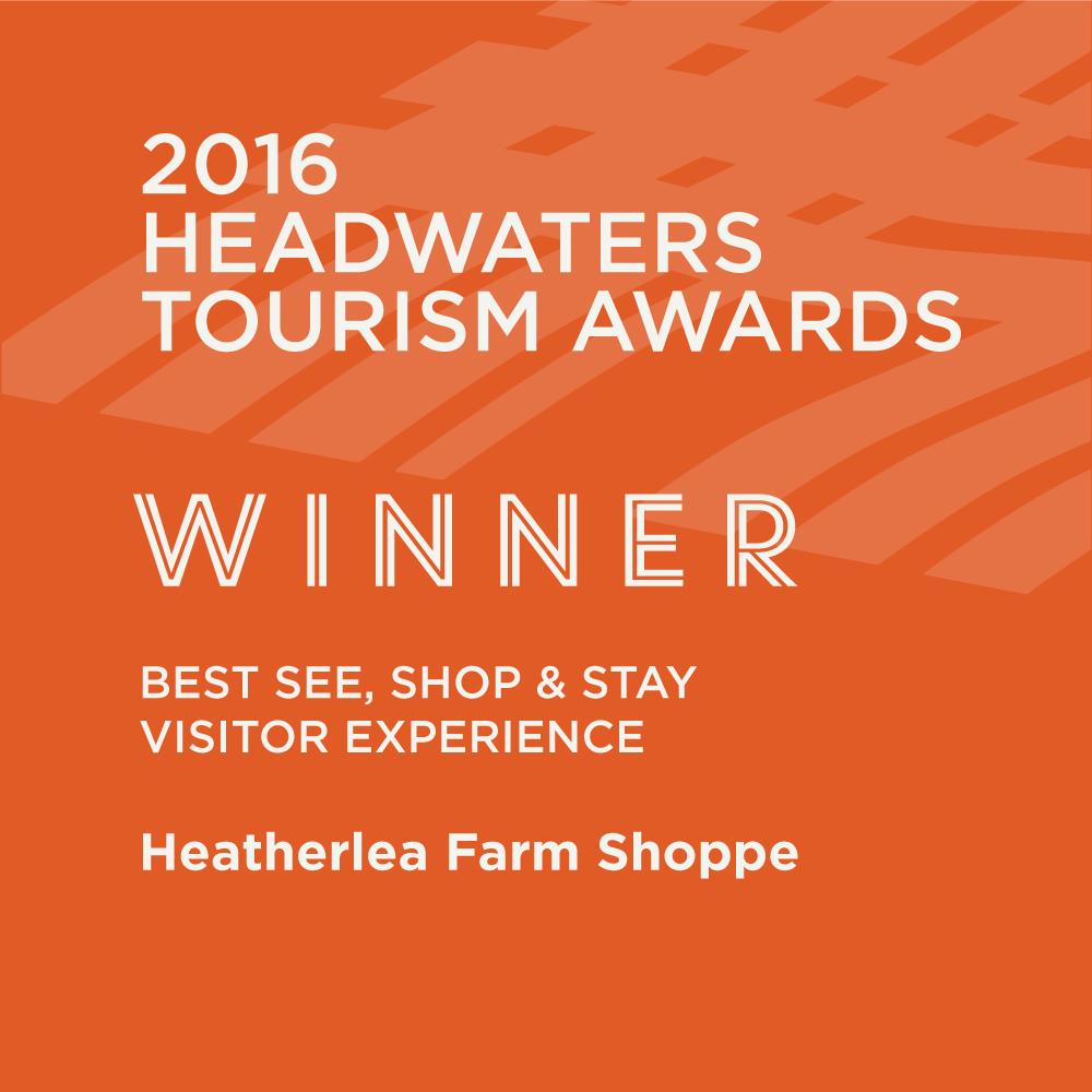 ontario tourism award of excellence heatherlea farm shoppe winner poster