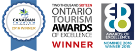 ontario tourism award of excellence winner badge