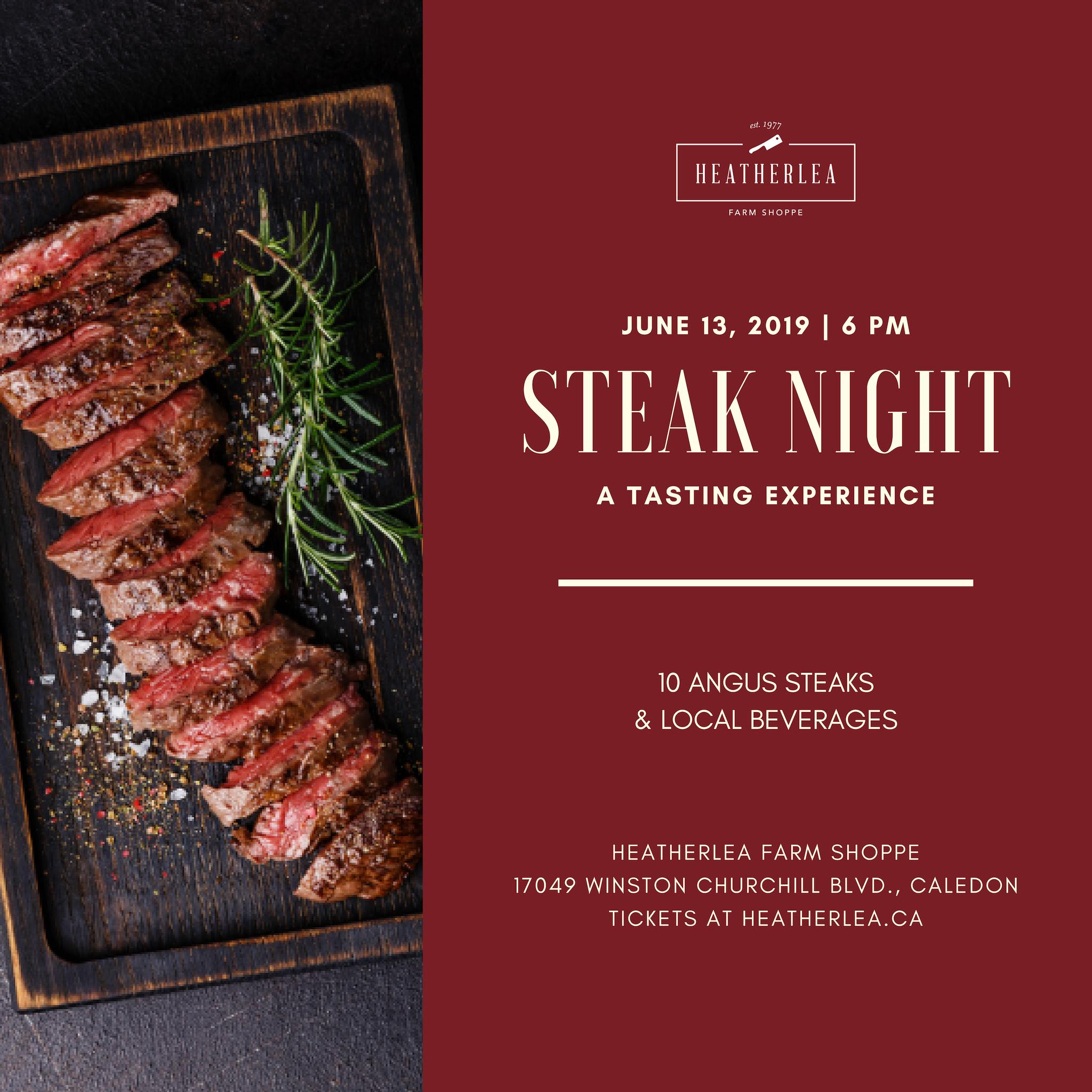 Steak Night: A Tasting Experience
